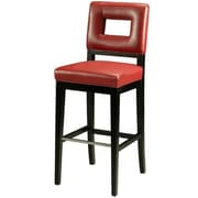 Pastel Hajime 26 Leather Counter Stool, Red