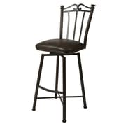 "Pastel Laguna 30"" Leather Swivel Barstool, Black"