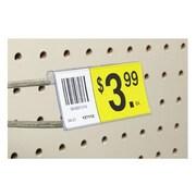 "FFR Merchandising® Flip Data Strip® Label Holder For T-Scan Hook, 3"", Clear"