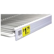"FFR Merchandising® Data Strip® Label Holder For Double Wire Shelf, 1 1/4"" x 29 1/2"", Clear"
