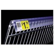 "FFR Merchandising® Extra-Duty Data Strip™ Label Holder For Wire Basket, 2"", Clear"