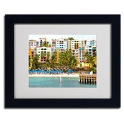 Trademark Fine Art CATeyes 'Virgin Islands 8' Matted Art Black Frame 11x14 Inches