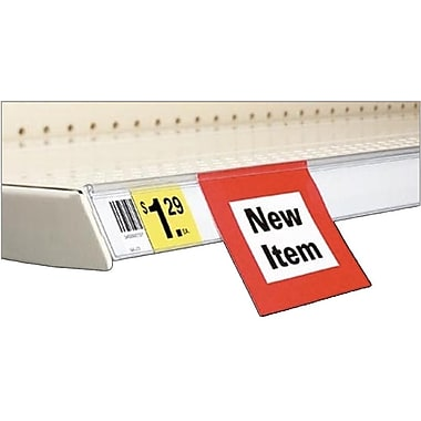 FFR Merchandising® Data Strip® SuperGrip® Self-Adhesive Label Holder, 1 3/8