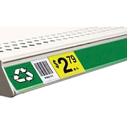 FFR Merchandising® Clip-On Data Strip® Biodegradable Label Holder For Shelf Channel, Clear