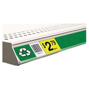 "FFR Merchandising® Clip-On Data Strip® Label Holder For Shelf Channel, 1.4"" x 47.625"", Clear"