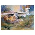Trademark Fine Art Ryan Radke 'Cat Nap'' Canvas Art 24x32 Inches