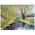 Trademark Fine Art Ryan Radke 'Covered Bridge Park I' Canvas Art 18x24 Inches