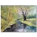 Trademark Fine Art Ryan Radke 'Covered Bridge Park I' Canvas Art 35x47 Inches