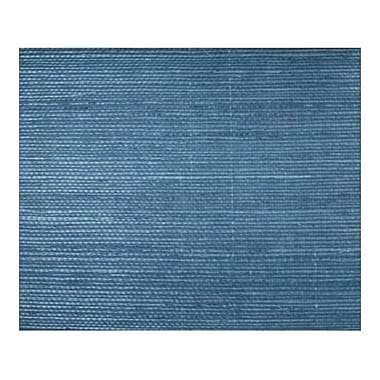 Inspired By Color™ Grasscloth and Natural Sisal/Twill Wallpaper, Dark Blue