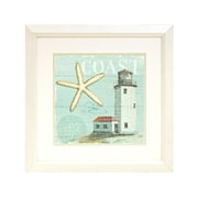 "Diamond Decor ""Beach House #2"" Framed Print Art, 19"" x 19"""