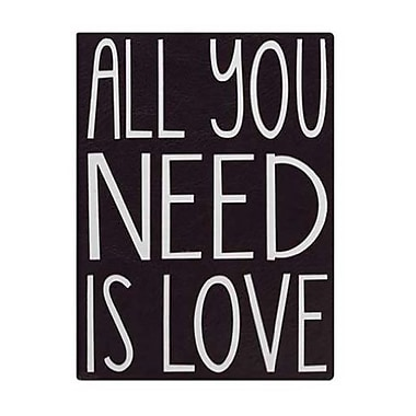 Eccolo™ Faux Leather All You Need Is Love Journal, Black