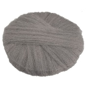 "Global Material 18"" #0 Radial Steel Wool Floor Pad, Gray"