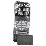 Global Material Medium Fine #0 Steel Wool Hand Pad, Gray