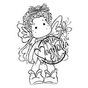 "Magnolia Summer Memories 6 1/2 "" x 4"" Cling Stamp, Summer Flower Tilda"
