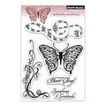 Penny Black® 5in. x 7 1/2in. Clear Stamp, Butterfly Symphony