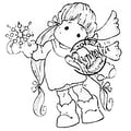 Magnolia A Christmas Story 2 1/2in. x 2 3/4in. Cling Stamp, Snowy Tilda