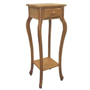 Ore International® 32 x 12 x 12 Wood Square Plant Stand, Oak