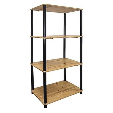 Ore International® Home Decorators Collection 4-Tier Pinewood Bookshelf, Light