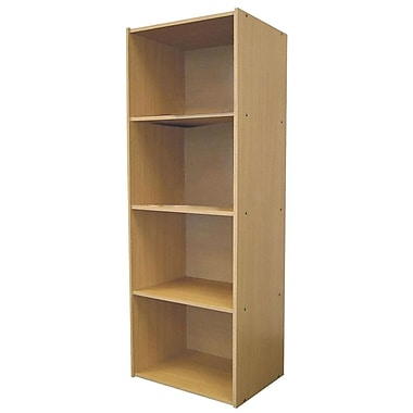 Ore International® Home Decorators Collection 4-Shelf MDF Open Bookcase, Natural