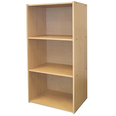 Ore International® Home Decorators Collection 3-Shelf MDF Open Bookcase, Natural