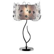 "Ore International® 34"" Crystal Table Lamp, Silver"
