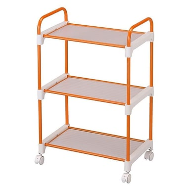 Ore International® 3 Tier Utility Cart, Orange
