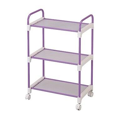 Ore International® 3 Tier Utility Cart, Lavender
