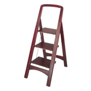 Cosco Products Cosco Three Step Rockford Wood Step Stool, MAHOGANY