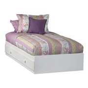 Ameriwood Mates Bed, WHITE STIPPLE