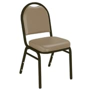 NPS® Vinyl Padded Dome Stack Chair, French Beige/Mocha