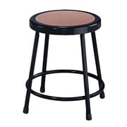 "National Public Seating 18"" Round Task Stool, Black (6218101)"