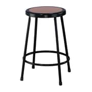 "National Public Seating 24"" Round Hardboard Task Stool, Black (6224101)"