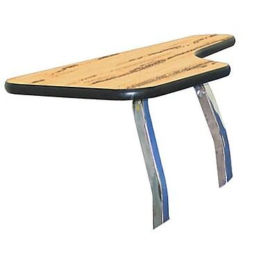 NPS® Left Hand Removable Tablet Arm For Stack Chair, Light Oak/Chrome