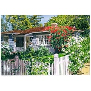 "Trademark Fine Art 'Rose Cottage' 22"" x 32"" Canvas Art"