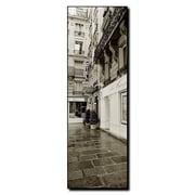 """Trademark Fine Art 'Hotel in Paris' 12"""" x 36"""" Canvas Art"""