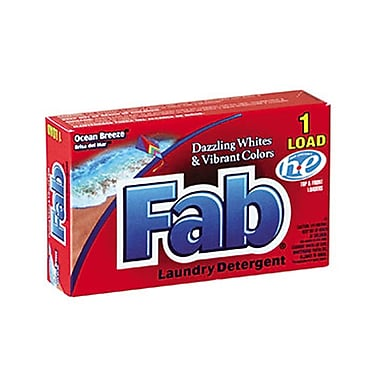 Fab® Dispenser-Design HE Laundry Detergent Powder, Ocean Breeze, 1 oz.