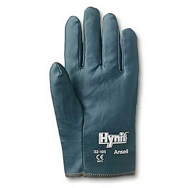 Ansell® Hynit® Interlock Knit Lining Nitrile/Impregnated Fabric Multi-Purpose Gloves, Blue, Size 7.5