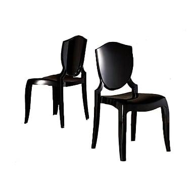 HomeBelle Sleek Modern Accent Chair, Meteor Gray