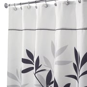 """InterDesign® 54"""" x 78"""" Leaves Polyester Stall Size Shower Curtain, Black/Gray"""