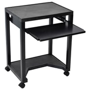 "Luxor 30"" Mobile Presentation Cart, Molded Plastic, Black"