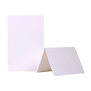 JAM Paper® Blank Foldover Cards, A2 size, 4 3/8 x 5 7/16, White Panel, 100/pack (309915)