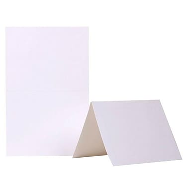 JAM Paper® Blank Foldover Cards, A2 size, 4 3/8 x 5 7/16, White Panel, 500/box (309915B)
