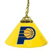 "Trademark Global® 14"" Single Shade Bar Lamp, Yellow, Indiana Pacers NBA"
