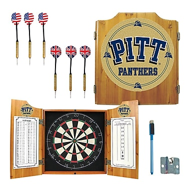 Trademark Global® Solid Pine Dart Cabinet Set, NCAA University of Pittsburgh