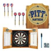 Trademark Global® Solid Pine Dart Cabinet Set, NCAA University of Pittsburgh
