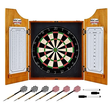 Trademark Global® Solid Pine Dart Cabinet Set, Four Aces