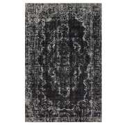 Feizy® Settat Wool and Art Silk Pile Classic Contemporary Rug, 5' x 8', Black/Ecru