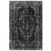 "Feizy® Settat Wool and Art Silk Pile Classic Contemporary Rug, 7'10"" x 11', Black/Ecru"