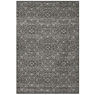 Feizy® Settat IV Wool and Art Silk Pile Traditional Rug, 5' x 8', Dark Gray/Silver