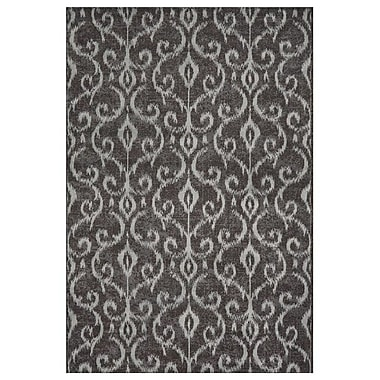 Feizy® Settat IV Wool and Art Silk Pile Transitional Rug, 5' x 8', Dark Gray/Silver